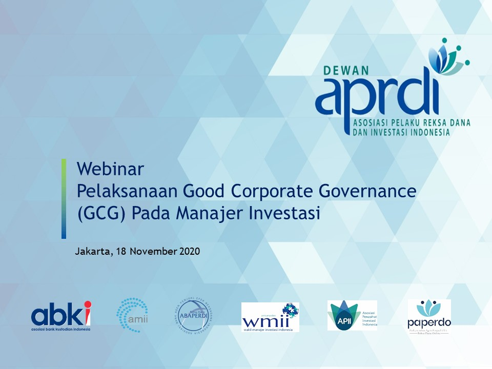 Webinar Dewan APRDI – GCG Pada Manajer Investasi