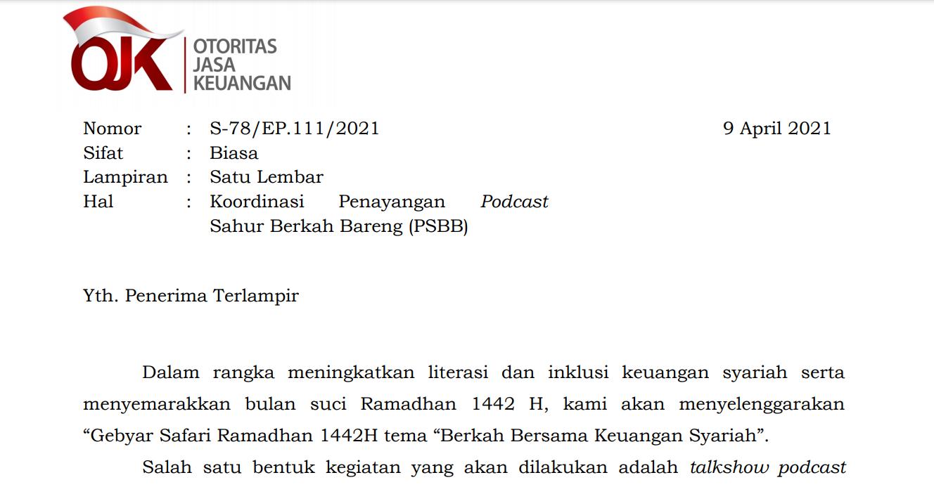 Surat Asosiasi Publikasi GSR 1442H